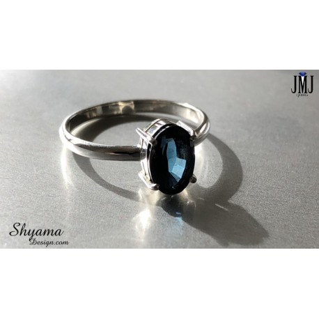 Handmade Ring made with Natural Spinal with 925 Sterling Silver