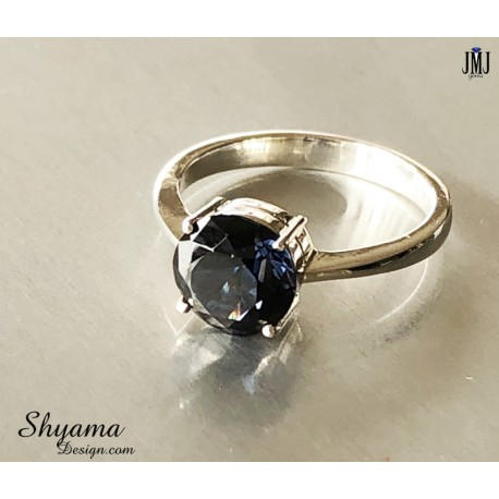 Handmade Ring made with natural Blue Spinel with 925 Sterling Silver