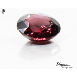 Natural  Faceted Dark Brown Zircon oval shape
