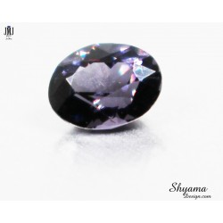 Natural  Faceted  Vivid Greyish Purple Spinel oval shape