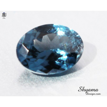 Natural Faceted Greyish Blue Spinel oval shape
