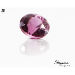Natural Faceted Greyish Pink Spinel round shape Natural Faceted Greyish Pink Spinel round shape