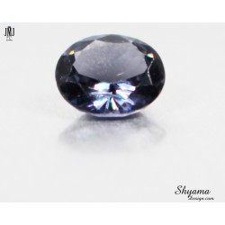 Natural Faceted Spinel Vivid Greyish Bluish Purple oval shape