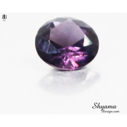 Natural Faceted Spinel Greyish Purple round shape