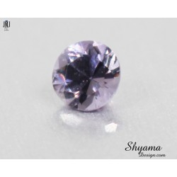 Faceted Natural Light Greyish Purple Spinel round shape