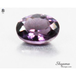 Faceted Natural Vivid Greyish Purple Spinel