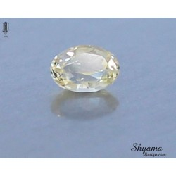 10136 Natural Faceted Light Yellow Sapphire Mixed Oval