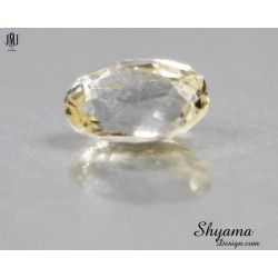 10137  Natural  Faceted  Light Yellow Sapphire oval shape