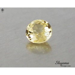 10140 Natural Faceted Vivid Light Yellow Sapphire Mixed Round shape