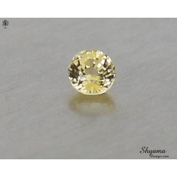 10141 Natural Faceted Vivid Light Yellow Sapphire Mixed Round shape