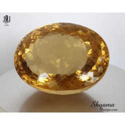 10145 Natural Vivid Yellow Citrine  Fancy Oval shape