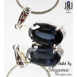 Handmade Natural Spinel Gemstone Pendent made with 925 Sterling Silver and Diamond