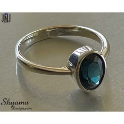 Handmade Ring made with Natural Spinel and 925 Sterling Silver