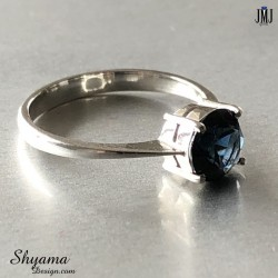 Handmade natural Spinel ring made with 925 Sterling Silver